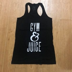 Tops - Gym & Juice black tank top